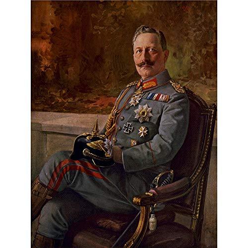 Wee Blue Coo Paintings Portrait Kaiser Wilhelm Ii German Emperor Art Print Poster Wall Decor 12X16 Inch
