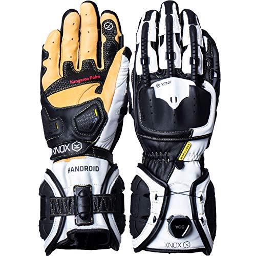 Knox Handroid MK4 - Guantes, Hombre, Handroid Mk4, Negro y blanco, XXXL