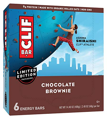 CLIF BAR - Energy Bars - Chocolate Brownie - (2.4 Ounce Protein Bars, 18 Count) (Packaging May Vary)