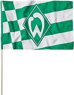 Unbekannt SV Werder Bremen Fahne/Stockfahne  Karo und Streifen  60 x 40 cm