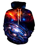 Neemanndy Galaxy Hoodies for Men and Women 3D Print Realistic Outer Space...