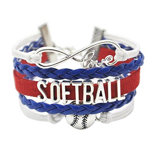 HHHBeauty Infinity Softball Bracelet