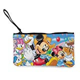 Cartoon Mouse - Monedero para mujer y niña con diseño de dibujos animados, bolso cambiador, con cremallera, multifunción, con asa.