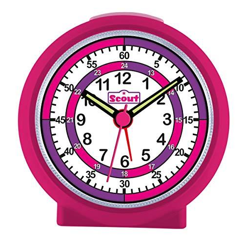 Scout 280001015 Maedchen-Wecker Lernzifferblatt Lila Pink