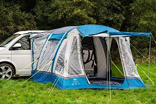 OLPro Wohnmobil-Vorzelt Loopo Breeze XL, aufblasbar, Luft gepolstert, grau/blau