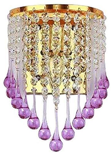 XFXDBT Lámpara de Pared Interruptor de la Pared Ajustable de la luz del Colgante de Cristal púrpura Europeo Cama de la habitación de la habitación de la habitación de la habitación