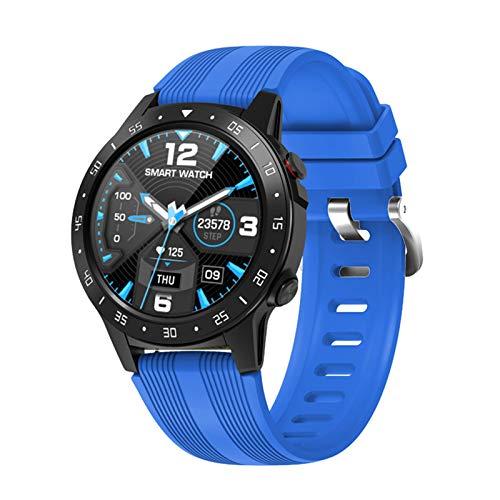 WEINANA Smart Watch Kann Karten-Sprachanruf, Herzfrequenz-Smartwatch, Blutdruck, Kompass, Multifunktionale Sportuhr Einfügen(Color:EIN)