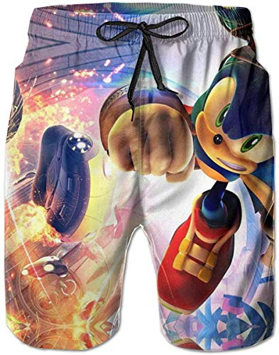 Men's Sportwear Quick Dry Board Casual Classic Fit Short Summer Sonic The Hedgehog Beach Shorts