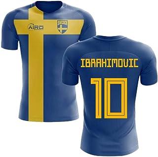 903b28f810a Airosportswear 2018-2019 Sweden Flag Concept Football Soccer T-Shirt Jersey  (Zlatan Ibrahimovic