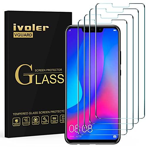 iVoler [4 Pack] Pellicola Vetro Temperato per Huawei P Smart+ / Huawei P Smart Plus, Pellicola Protettiva, Protezione per Schermo