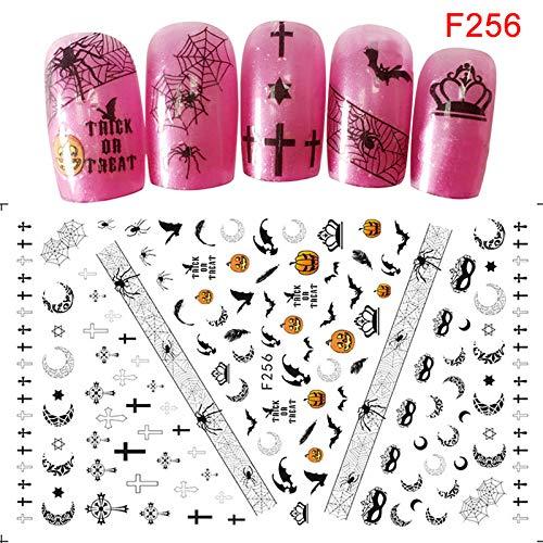 ZREAL Nail Art Sticker Adhésif Femmes DIY Manucure Halloween Conseils Décoration Stickers