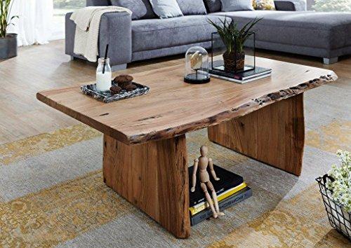 Main Möbel Rustikaler Couchtisch zusätzliche Ablagemöglichkeit 120x70cm 'Dakar' Akazie massiv lackiert