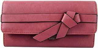 Haute Bow Checkbook Wallet, Dusty Rose