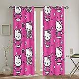 ESCFLAG Hello Kitty - Tende squisite ed eleganti, 52 x 213,4 cm (2 pannelli), adatte a tutti i tipi di stanze, perfetta decorazione della casa