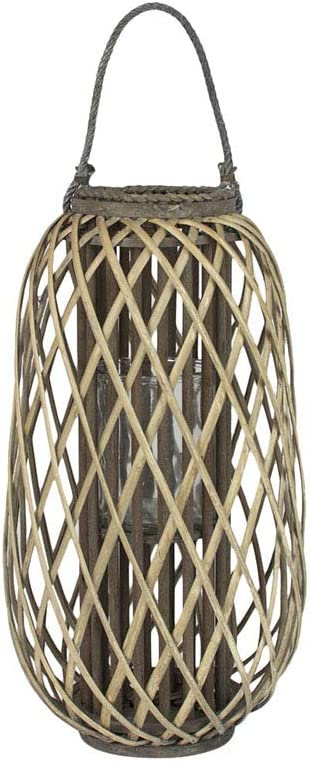 MY SWANKY HOME Animer and price revision Gray Lattice Pillar Candle 24 Holder H Large SALENEW very popular Inch