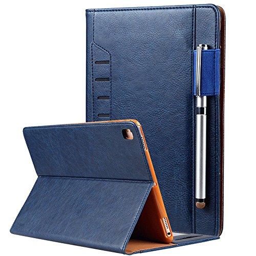 elecfan iPad Mini 4 Hüllen, Multi-Winkel Folio Schutzhülle Smart Cover mit Stifthalter Dokumentschlitze Standfunktion für Apple iPad Mini 1 / iPad Mini 2 / iPad Mini 3 / iPad Mini 4 Tablette - Blau