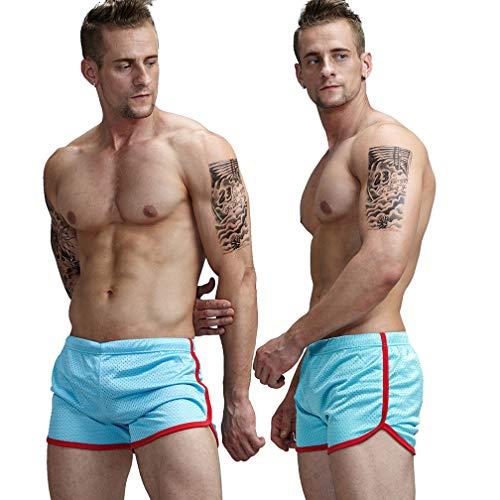 AIMPACT Men's Mesh Shorts Swimming Trunks Sexy Swim Trunks Bathing Suit Swimwear(Blue,XXXL)