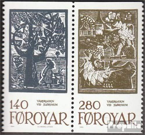 Prophila Collection Dänemark - Färöer W5 (kompl.Ausg.) 1984 Märchenillustrationen (Briefmarken für Sammler) Kultur