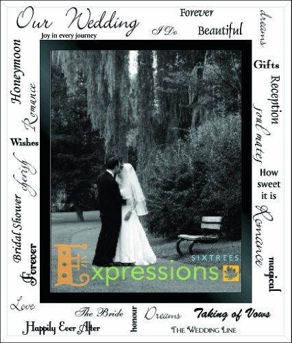 Sixtrees Moments Bevelled Glass Our Wedding Day Photo Frame Cornice per Foto, 8'' x 10''