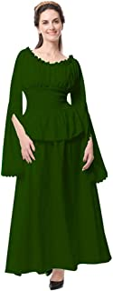 HomeMals Womens Summer Dresses Medieval Retro Cosplay Long Sleeve Dress Vintage Dresses Cosplay Costumes