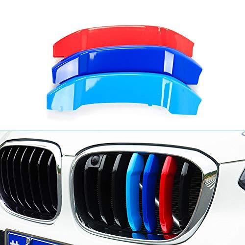 Tuqiang 3 Farben 3D MotorSport Frontgrill Zierleisten Grill Cover Dekoration Aufkleber für X3 G01 X4 G02 2018 (7 Gitter)