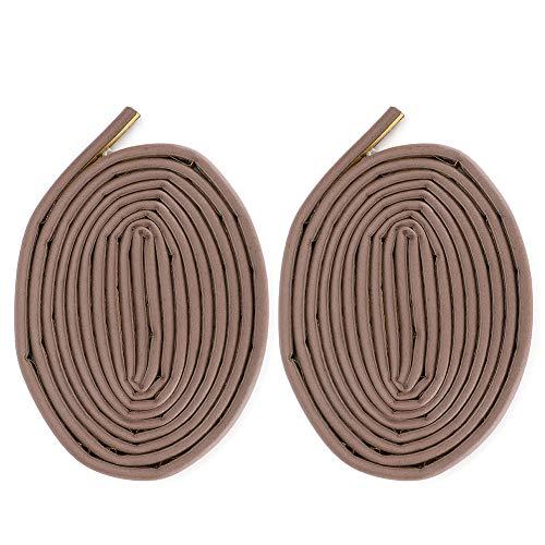 Les-Theresa 2 uds tiras de sellado autoadhesivas de aislamiento acústico para puerta antirrobo puerta corredera marrón