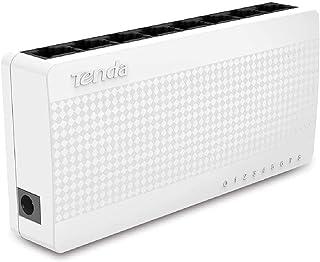 Tenda S108 8 poorten 10/100 Mbps desktop muur mount schakelaar - wit