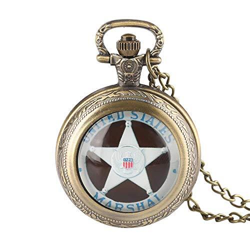 J-Love Relojes Antiguos Estados Unidos 1789 Marshal Whirling Case Reloj de Cuarzo de Moda Reloj Hombres Hombres Niños Niños Chica Regalo Regalo