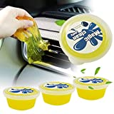 4-Pack Reusable Car Cleaning Gel - Universal Magic Dust Cleaning Mud for PC Tablet Laptop Keyboards, Cameras, Air Vents,Cleaning Putty Slime 75g x 4