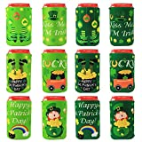 Tifeson 12 Pack St. Patrick's Day Beer Can Coolers Sleeves Party Favors - Saint Patrick's Day Party...
