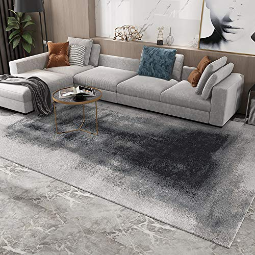 SN HUIPENG Modern Style Large Rug Living Room Bedroom Light Grey Home Imitation Cashmere Soft Long-Haired Carpet Anti-Slip Rectangle Carpet Area Rugs 200CM*300CM