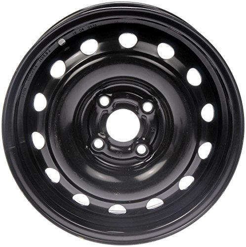 Dorman Black Wheel with Painted Finish (14 x 5.5 inches /4 x 3 inches, 45 mm Offset)