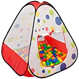 LittleTom Tenda Giocattolo 90x90x90cm casetta Pop-up Piscina di Palline a Pois