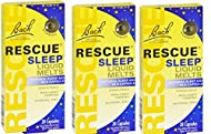 Pack of 3 x Bach Flower Remedies Rescue Sleep Liquid Melts - 28 Capsules