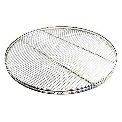 Grillclub Edelstahl Grillrost 70 cm, nur 10 mm Stababstand rund mit Reling Schwenkgrill mit 3 Aufhängeösen Grill Neu