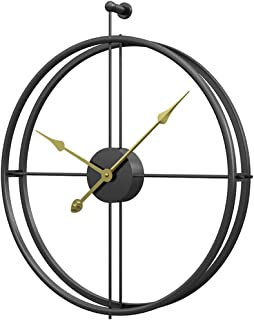 NILINMA Large Metal Wall Clock Silent Sweep Wall Clock for Office, Bedroom and Kitchen size 52×58×6.2cm