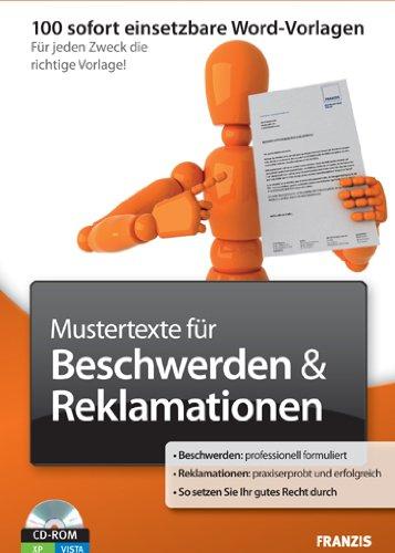 Mustertexte für Beschwerden/Reklamation