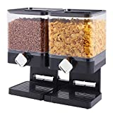Double Cereal Dispenser Dry Food Storage Container Dispenser Machine Pasta New