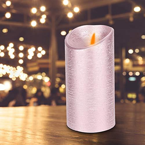 Aunmas Roze kaars verlicht romantische vlamloze zwaaiende vlam batterij-aangedreven kaars voor huwelijksfeest-festival decoratie