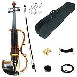 Kinglos 4/4 Farbige Massivholz Professionelle elektrische/Still Geige Ausrüstung mit Ebenholz Ausstattung in Voller Größe (MWDS1902)