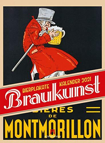Braukunst Bierplakate Kalender 2021, Wandkalender im Hochformat (33x45 cm) - Geschenk-Kalender für Männer, Plakatkunst, Nostalgische Werbeplakate Bier