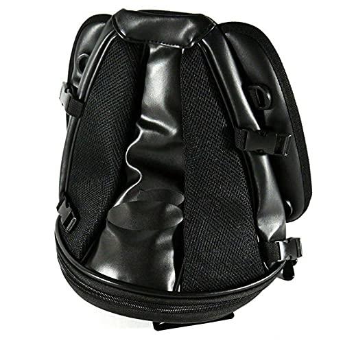 MEQNOIG Sedile Moto Posteriore Universale Borsa portaoggetti Posteriore Bagagli Scatola di Coda Serbatoio Borsa Nera Borse per Bagagli 30 * 25 * 20 CM