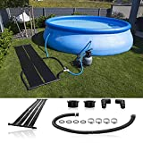 Solar Heating System 1 Panel, Pool Solar Heaters Kit, Solar Heater Mat for Above Ground Swimming Pool, Black, Multiple Sizes
