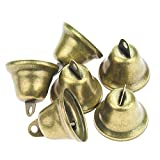 Powlankou 40 Pieces 38mm/1.5inch Vintage Jingle Bells Bronze Tone Bells Brass Bell Hangings for Christmas Wind...
