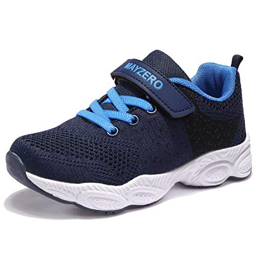 Vivay Boys Sneakers Lightweight Boys Tennis Shoes Winter Athletic Sports Running Shoes for Little Kid (1# Dark Blue,Size 12.5 Little Kid)