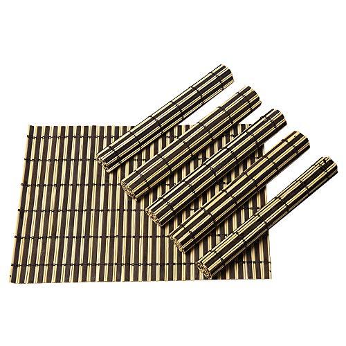 Byoeko Juego de 6 Salvamanteles Individuales rectangulares de Bambú de (45 x 30 cm)
