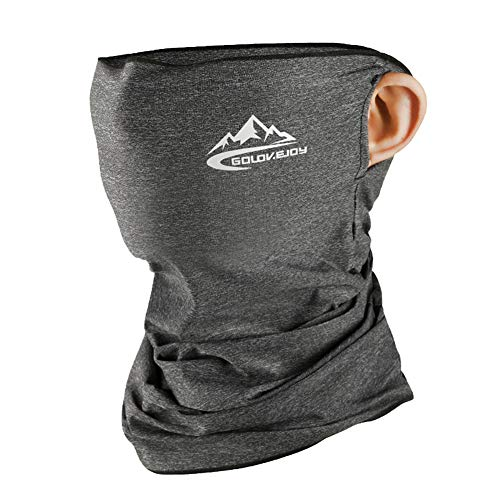 Guooolex フェイスマスク ネックカバー フェイスガード フェイスカバー バンダナ UVカット 日焼け防止 UPF50+ 冷感 夏 男女兼用 XTJ11 グレー