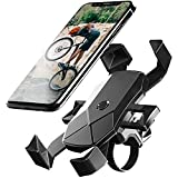 自転車 スマホ ホルダー ワンタッチ固定式ロードバイク スマホホルダー-DODOLIVE 最新版,360度回転自転車 携帯 ホルダー GPSナビ 落下防止 強力固定 iPhone X XS 8 7 6 6S Plus Samsung Sony LG Huaweiのスマホに対応 日本語取扱説明書付き