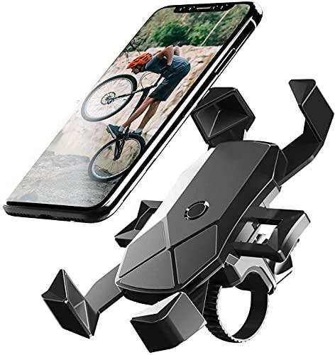 自転車 スマホ ホルダー ワンタッチ固定式ロードバイク スマホホルダー-DODOLIVE 360度回転自転車 携帯 ホルダー GPSナビ 落下防止 強力固定 iPhone X XS 8 7 6 6S Plus Samsung Sony LG Huaweiのスマホに対応