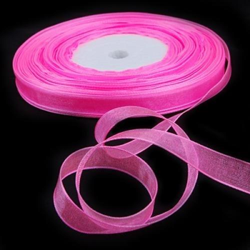 Gleader3/8 Pouces 50 Yards Ruban d'Organza - Rose 13 #-- Parfait pour Faveurs de Mariage, Projets de Couture, Scrapbooking, Emballages des Cadeaux, Decorations de Gateaux, Confection de Robes et de Nombreux Usages plus Creatifs